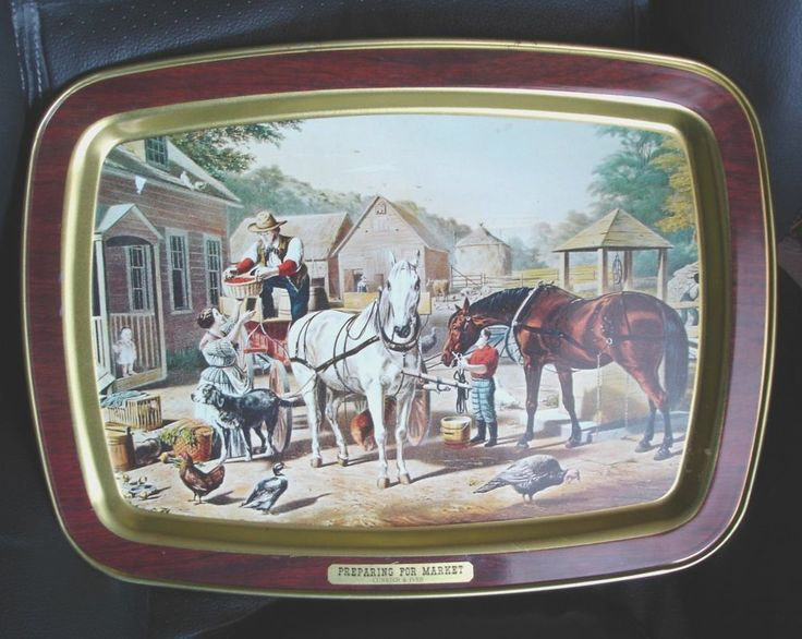 Old Fashioned Metal Tv Trays