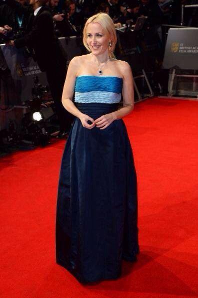 Best dress bafta 2014: gillian anderson in vintage balmain