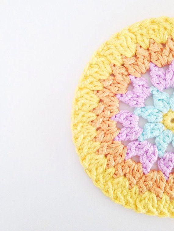 Crochet Coasters Pattern Instant Download by annemariesbreiblog