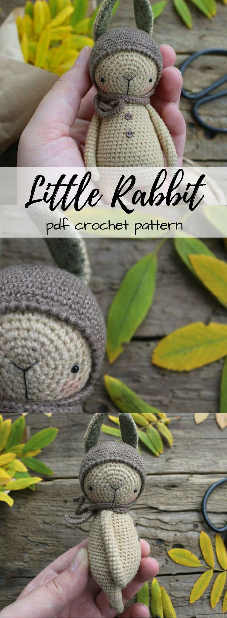 pdf crochet pattern and video tutorials for how to crochet this cute little rabbit amigurumi toy. Love Little Owl Designs! Such sweet designs #etsy #ad #crochetpattern #stuffedanimal