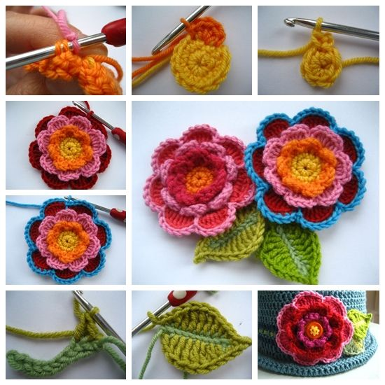 Crochet Triple Layer Flower#diy #crafts #crochet flower