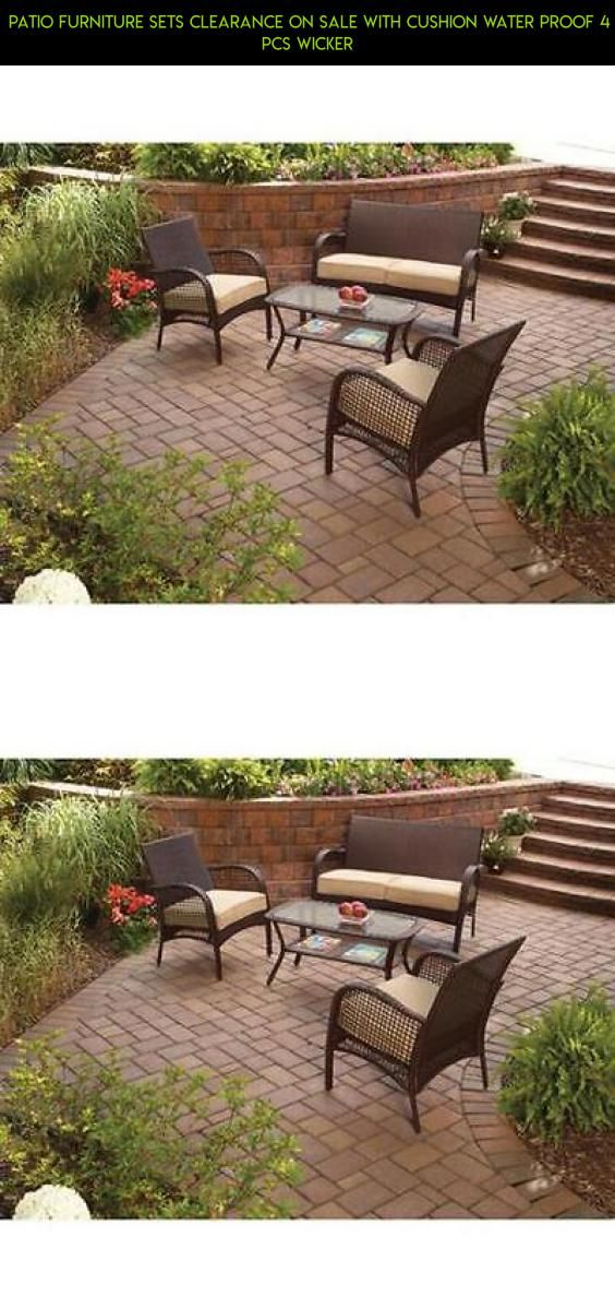 Patio Furniture Sets Clearance On Sale With Cushion Water Proof 4 Pcs  Wicker #camera #