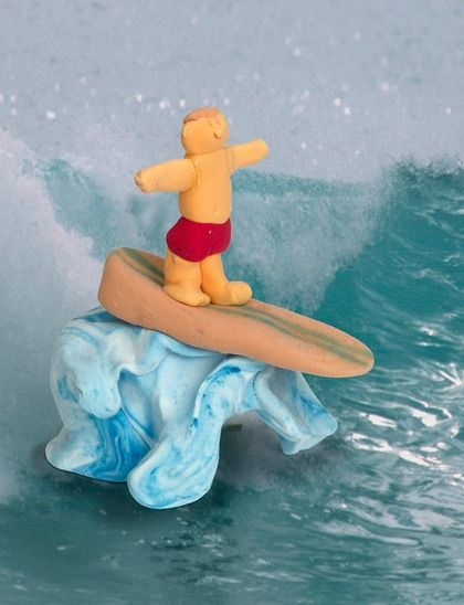 Surf's up! Can't wait for summer? Sculpt your favorite summer sport with model magic. | easy kids crafts