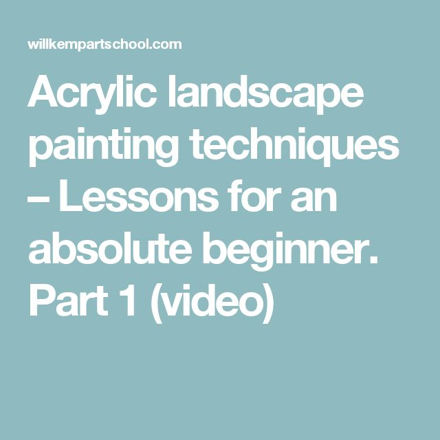 best 25 acrylic landscape painting ideas on pinterest