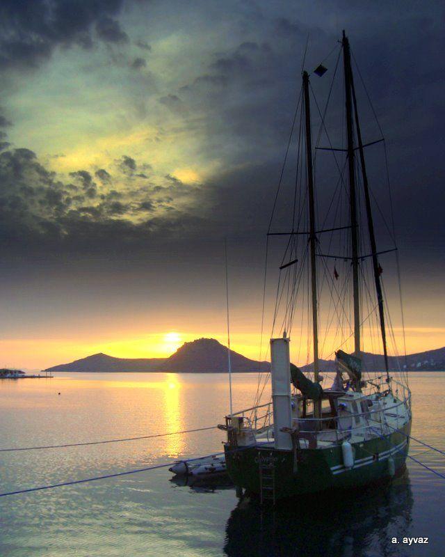 Bodrum Yalikavak sunset / Turkey