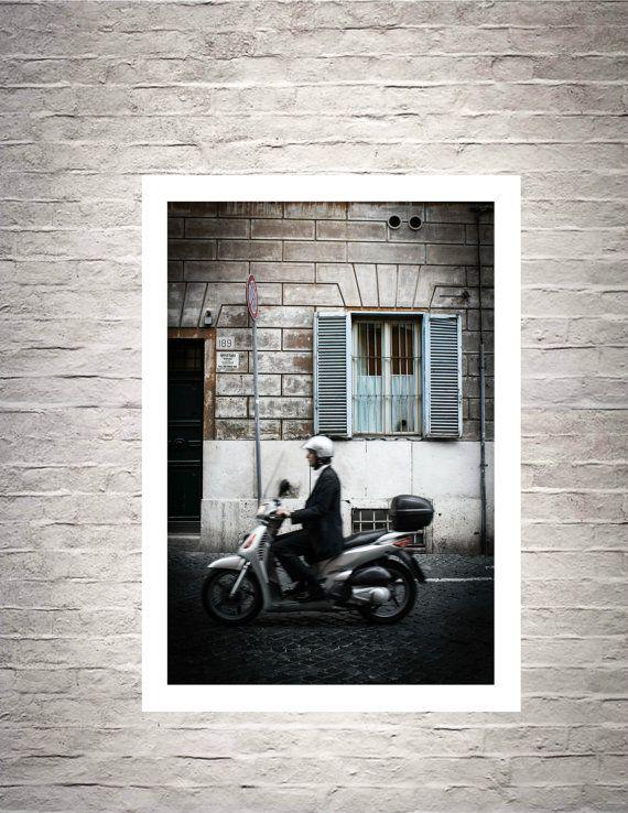 Italian Motorino Italian Fine Art Note by BelmondoVintage on Etsy