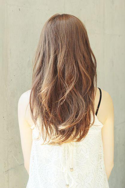 long permed hair