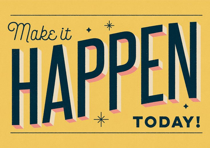 """Make It Happen Today Typography"" by Telegramme Paper Co."