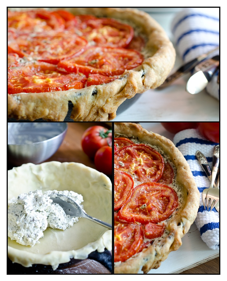 Tomato and Goat Cheese Tart with Rosemary and Mascarpone: Goats, Savory Dish, Recipe, Food, Mascarpone Cheese, Cheese Tarts, Goat Cheese