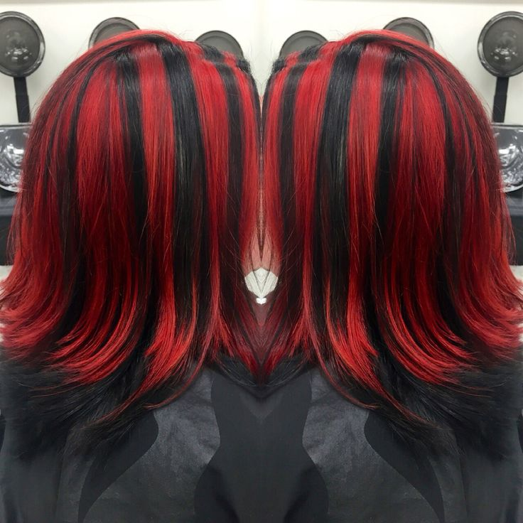 1000+ ideas about Black Hair Red Highlights on Pinterest ...