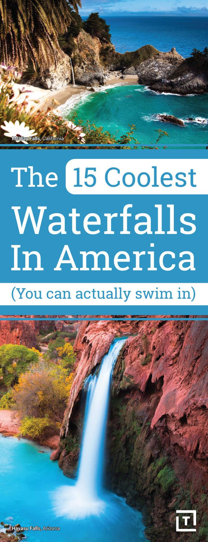 The 15 Coolest Waterfalls in America (You Can Actually Swim In)