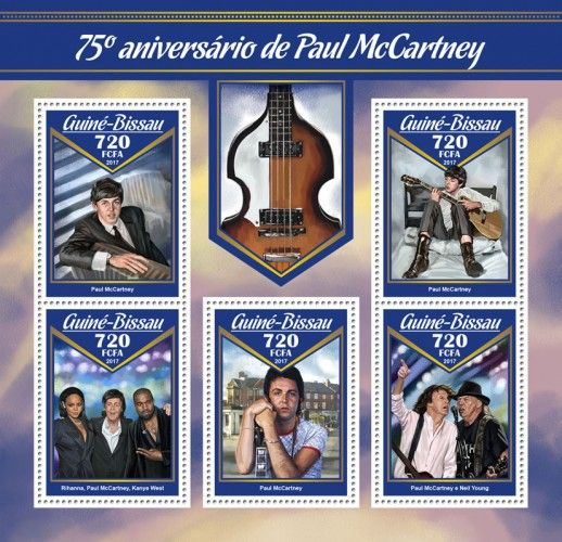 GB17007a 75th anniversary of James Paul McCartney (Rihanna, Paul McCartney, Kayne West; Paul McCartney and Neil Young)