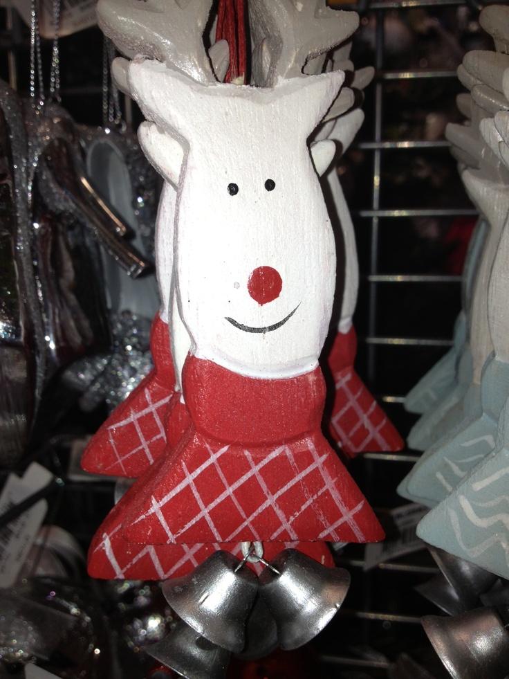Wood Reindeer Xmas Tree Deco $4.95