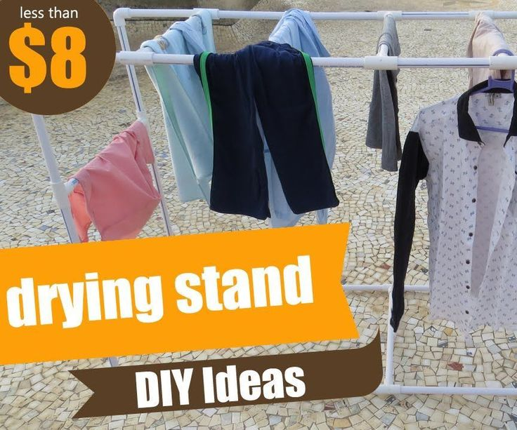 PVC Clothes Drying Stand/Rack - DIY Ideas - Ideas With PVC - How to Make Drying Stand