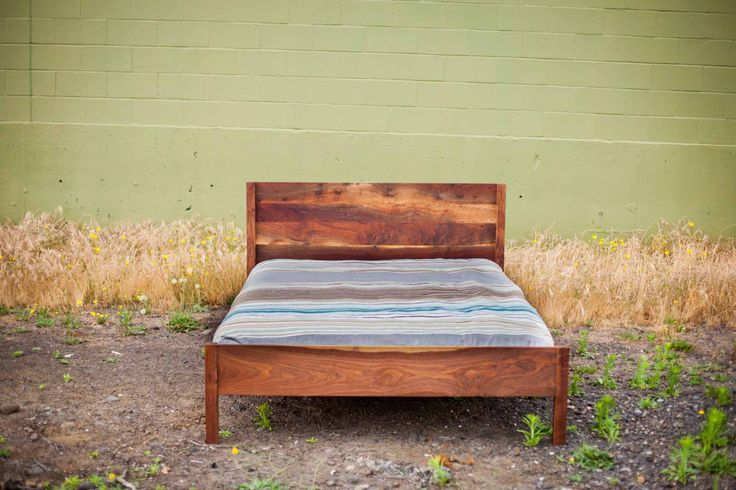 Modern Panel Bed in Walnut by MakersWoodworks on Etsy https://www.etsy.com/listing/293505405/modern-panel-bed-in-walnut
