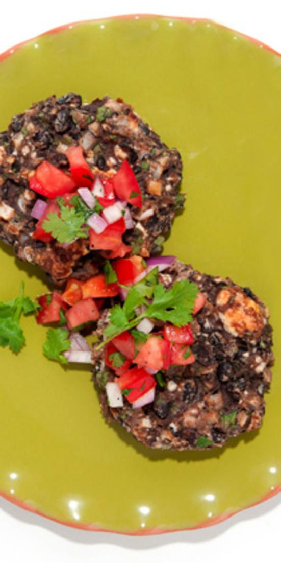 Black Bean Cakes with Queso Fresco