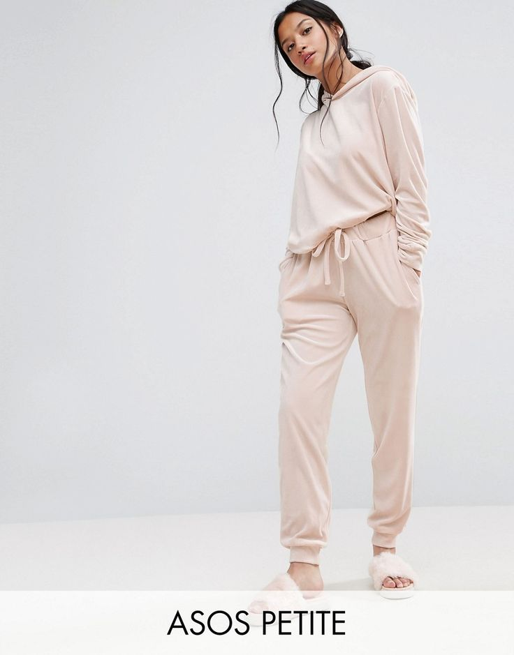 Buy it now. ASOS PETITE LOUNGE Velour Jogger - Beige. Joggers by ASOS PETITE, Soft-touch velour, Drawstring waistband, Side pockets, Fitted cuffs, Relaxed fit, Machine wash, 100% Polyester, Our model wears a UK 8/EU 36/US 4 and is 158cm/5'2 tall. 5�3�/1.60m and under? The London-based design team behind ASOS PETITE take all your fashion faves and cut them down to size. Say goodbye to all your short-girl problems with our perfectly proportioned denim, day-to-night dresses and everyday basi...