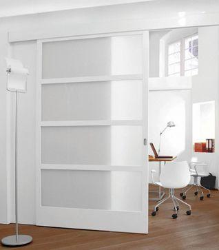 schuifdeuren Gezandstraald glas www.thedoors.nl Geen rails te zien aan de onderkant