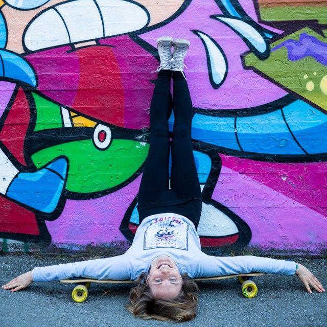 funny longboard yoga yin pose