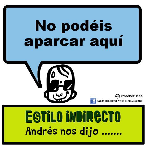 ESTILO INDIRECTO: Nueva categoría de Practicamos Español - Learn Spanish Emoticón smile