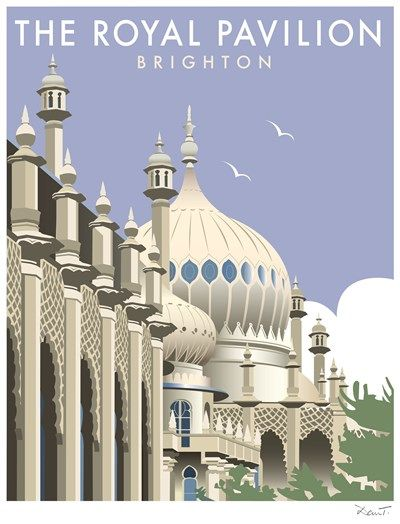 The Royal Pavilion Print at Whistlefish Galleries - handpicked contemporary & traditional art that is high quality & affordable. Available online & in store