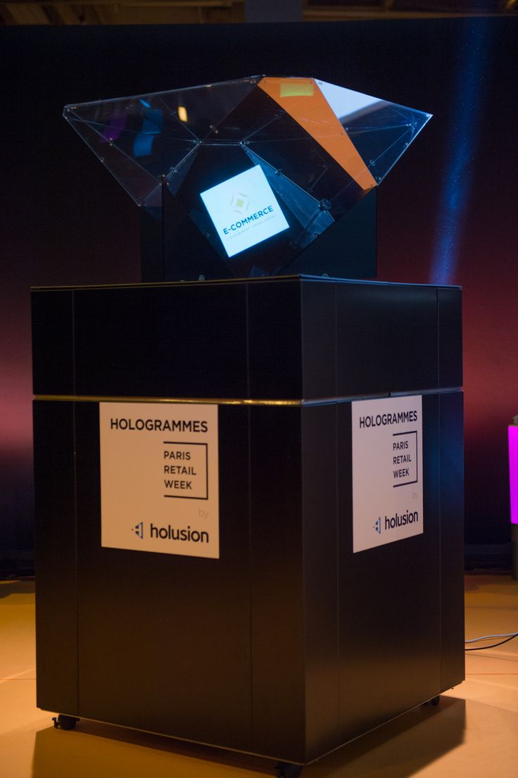 The Holusion hologram announced the winners of each category. #ECP15 #ParisRetailWeek #AWARDS