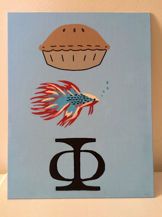 Pi(e) Beta (betta fish) Phi. A cute interpretation of the sorority name