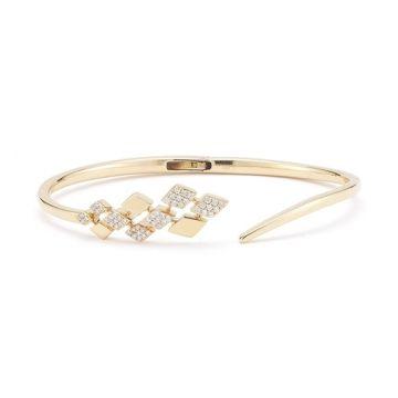 JEANIE ANN: Yellow Gold Diamond Cuff #diamonds #yellowgold #bracelets #cuffs #danarebecca