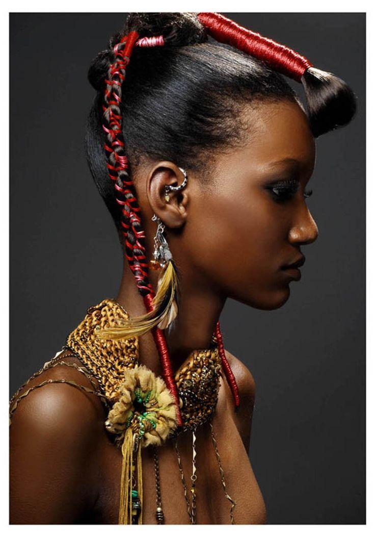 accessoires cheveux en 2019 Beauté africaine, Coiffure
