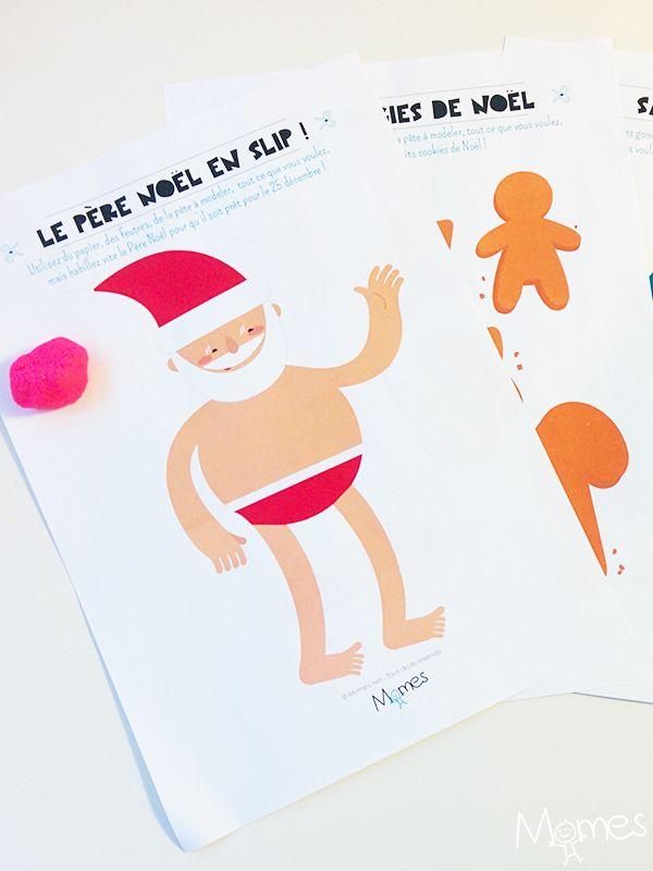Le Père Noël en slip ! Set de jeux de noël à imprimer