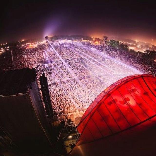Orange scene at Roskilde festival Denmark