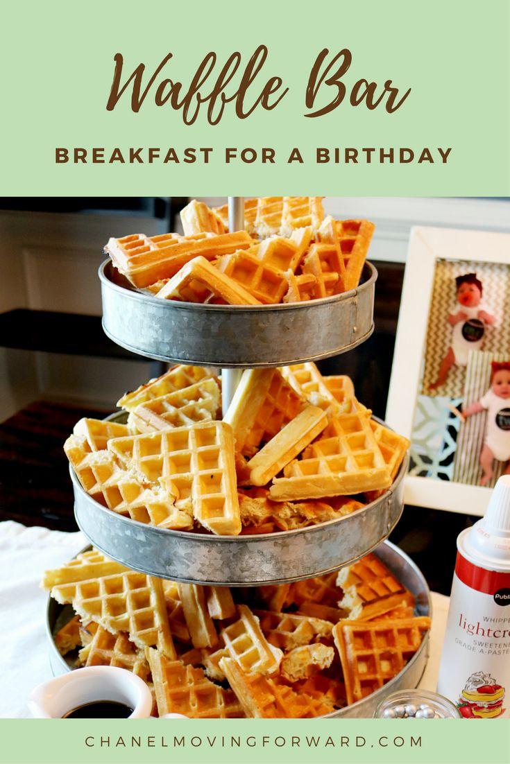 WAFFLE BAR | BREAKFAST IDEAS | IDEAS FOR BREAKFAST | BIRTHDAY PARTY FOOD IDEAS | EASY BREAKFAST PARTY IDEAS | WAFFLE BAR PARTY