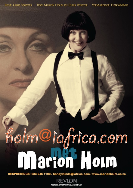 POSTER DESIGN for South African comedian Marion Holm 'holm@iafrica.com'