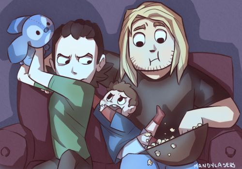 Superfamily Avengers   ... peter parker loki SuperFamily MLArt domestic avengers mandylasers