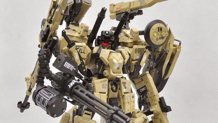 "MG 1/100 RGM-96X Jesta ""Desert Equipment Type"" - Custom Build(RGM-96X ジェスタ) - YouTube"