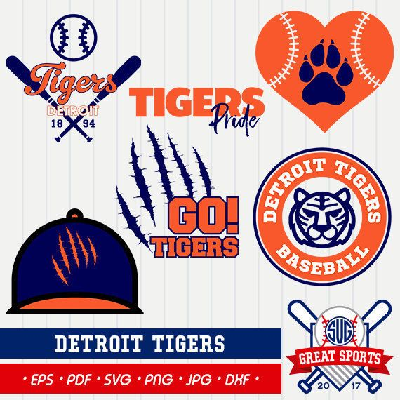 Detroit Tigers SVG Detroit Baseball Clipart Detroit Baseball