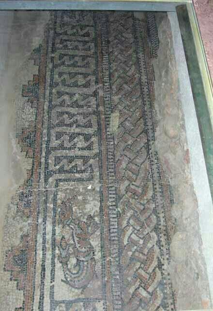 Mosaici nella Chiesa di San Teodoro a Pavia.  Forse appartenenti alla precedente chiesa di Sant'Agnese