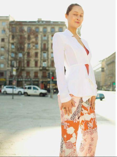Daria Shapovalova wear AnnaRita N collection