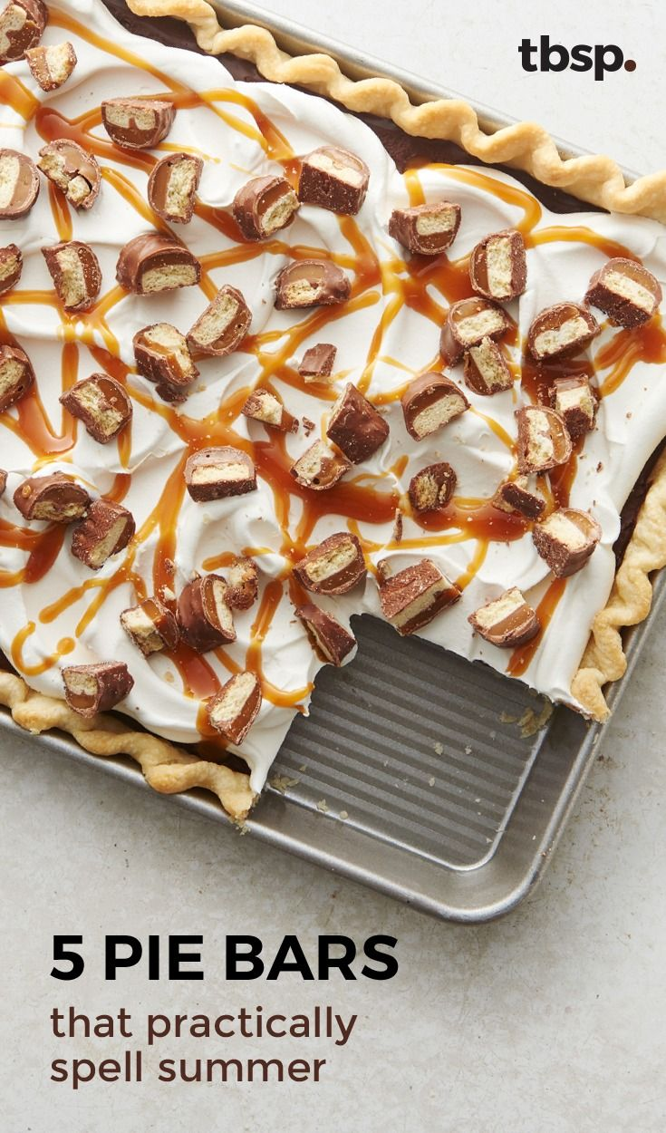 Give me a 'P'! Give me an 'I'! Give me an 'E'! What does that spell? If it's cherry pie bars, rum-spiked coconut cream pie bars, or bourbon peach pie bars, then it spells summer!