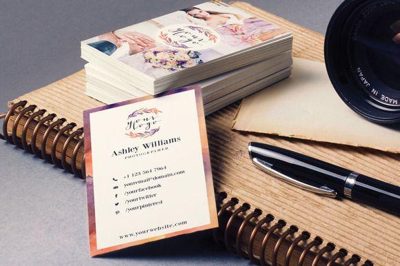 https://creativemarket.com/designlux/106230-Elegant-Watercolor-Business-Card