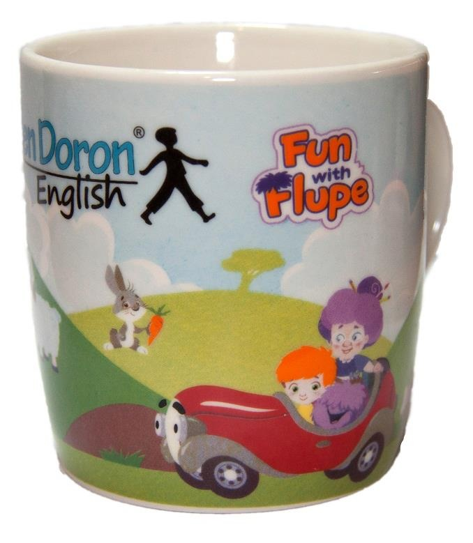 From Helen Doron English in Ukraine: Fabulous Fun with Flupe mug!  Fun With Flupe is a new course for 2 to 5 year olds, appropriate for beginner students or as a follow up to Baby's Best Start.  Fun With Flupe follows the adventures of a young Paul Ward as he jumps into his book of nursery stories to help Granny Fix and Flupe repair things that have gone wrong in the rhymes.Find out more!  http://www.helendoron.com/fwf.php