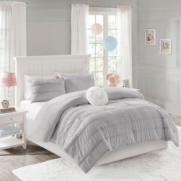 Mi Zone Bella Ruched Reversible Comforter Set | Bed Bath & Beyond
