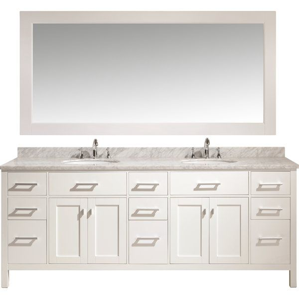 Carrasquillo 84 Double Bathroom Vanity Set Double Sink Vanity