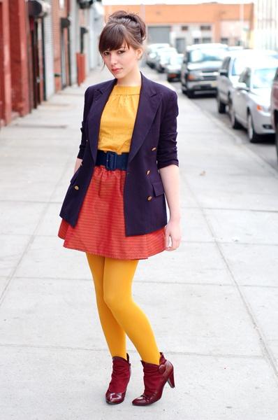 Love mustard tights