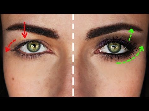 How To: Smokey Eye For Hooded Droopy Downturned Eyes | MakeupAndArtFreak - YouTube