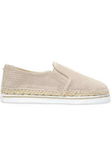 Sole measures approximately 20mm/ 1 inch Beige suede Slip on Made in Spain