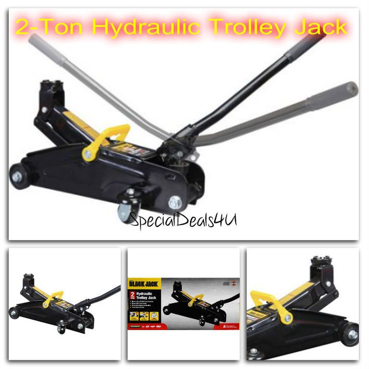 TROLLEY JACK 2 Ton Hydraulic Floor Heavy Duty Steel Car