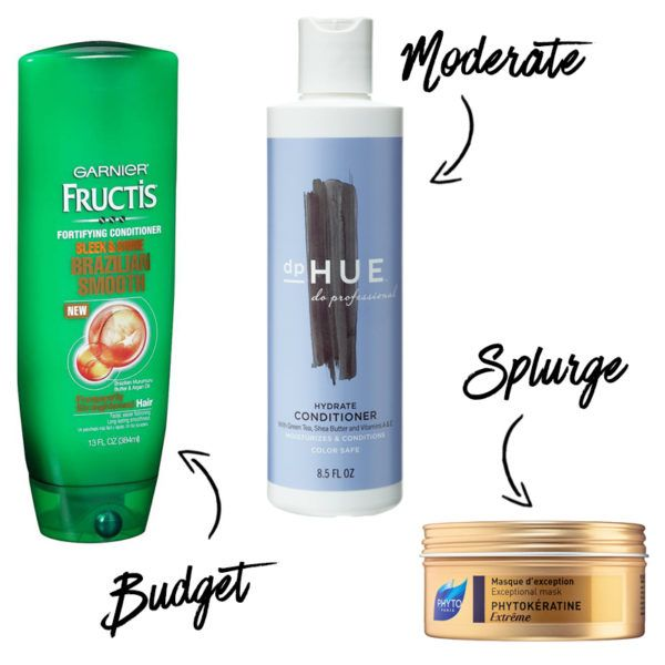 Find the best conditioner for your hair type AND budget.  The best for thick & coarse hair is Sleek & Shine Brazilian Smooth!  Tame a coarse, unruly mane with deeply hydrating formulas infused with Keratin or Brazilian properties. Shea butter and vitamins A and E will also help to create lustrous strands.