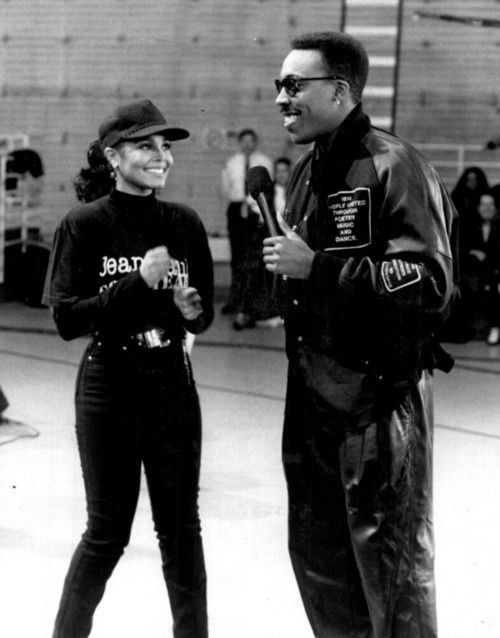 Janet Jackson & Arsenio Hall I so remember this interview. She was on tour and this was the only way to get the interview. This interview aired on his first talk show in the late 80s to the early 90s.