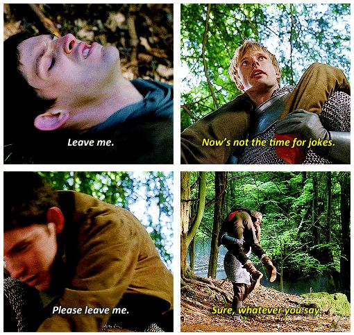 """""""No matter how much Arthur denied it at first, Merlin truly was and will always be his best and most loyal friend."""""""